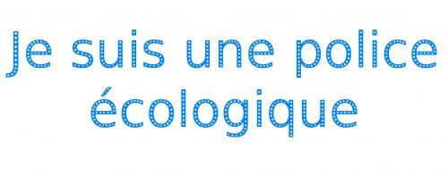 police écologique - carte de visite écologique - cr communication
